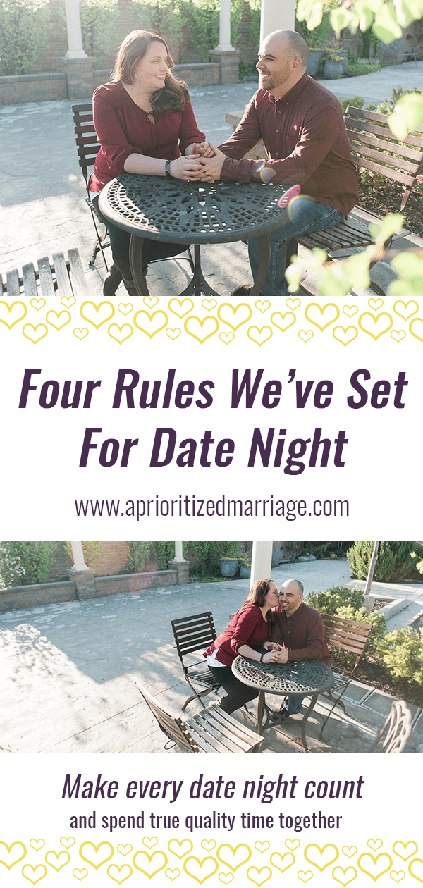 Three ideas of boundaries you can set to make your date nights more enjoyable.