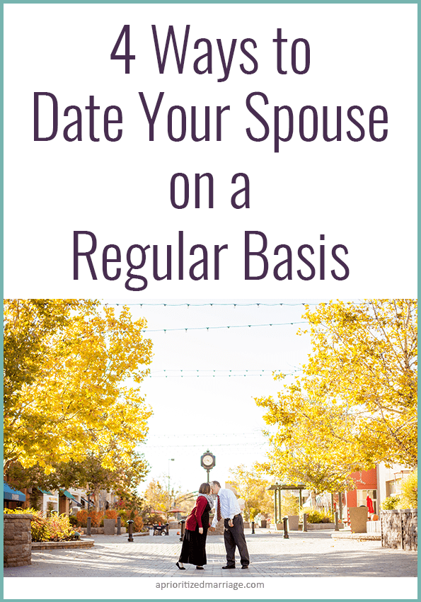Dating your spouse doesn't just happen on your weekly date nights, it's a daily event!