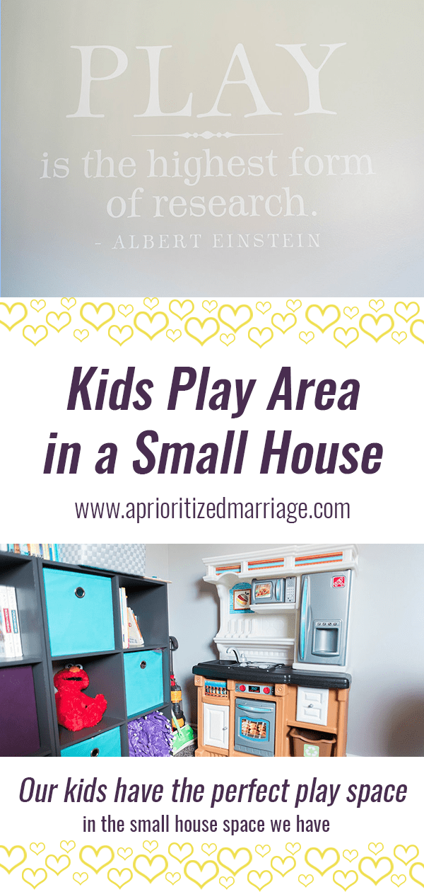 Create a space for your kids to play no matter how small your house is.