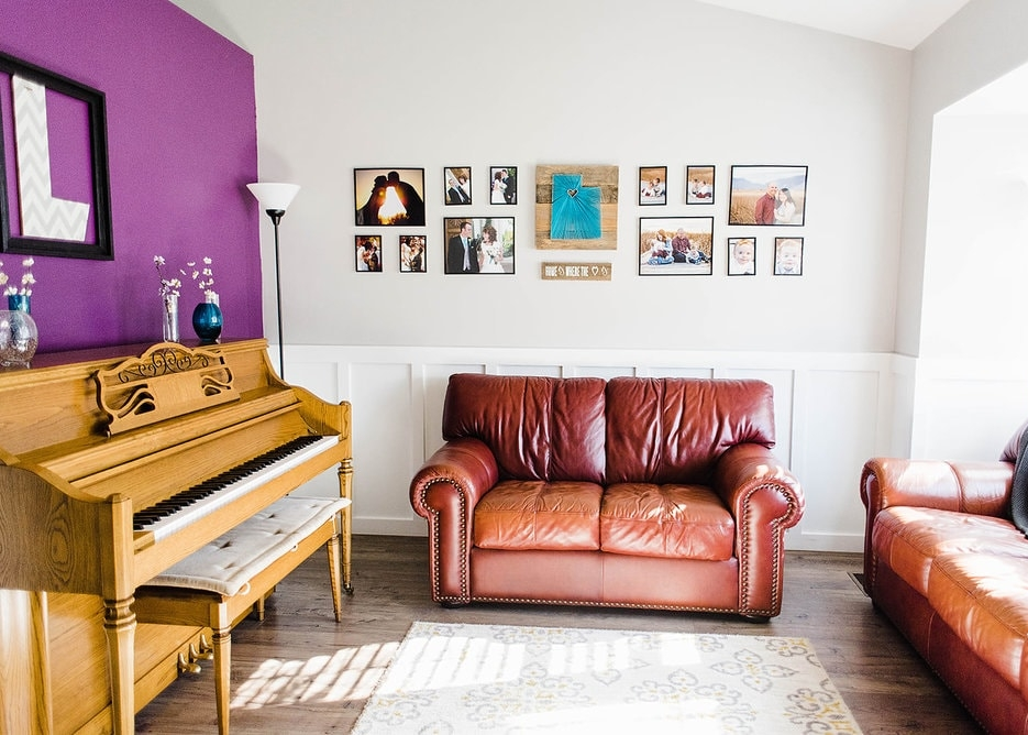 front room in our home