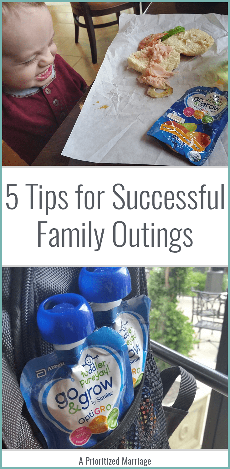 Tips to help your family date nights or family outings go more smoothly. Great ideas for parents with young kids!