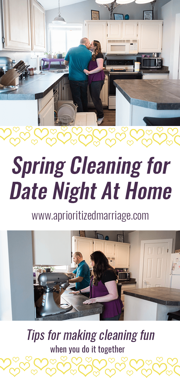 It might not sound fun, but cleaning together can be rewarding and a great date night activity.