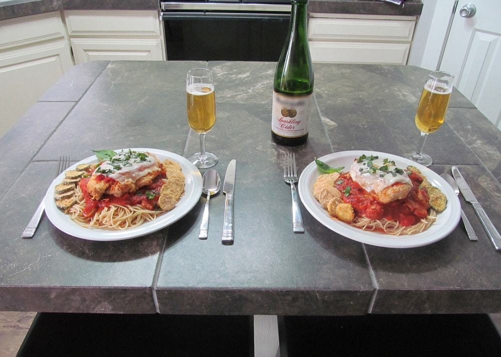 Parmesan Chicken meal for two
