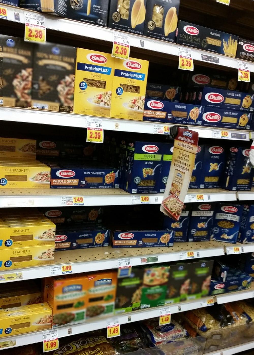 barilla pasta store display