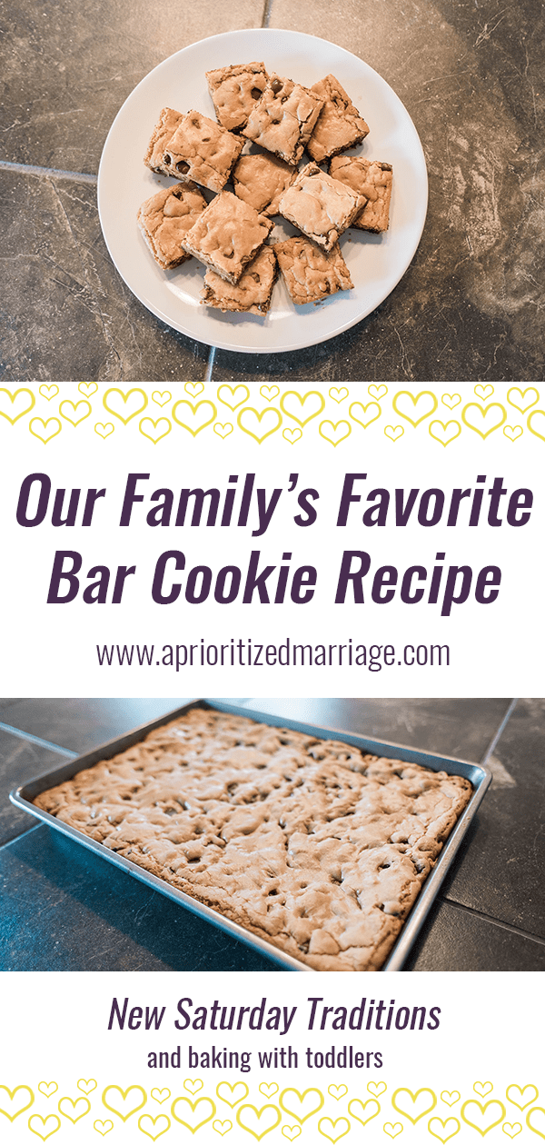 Recipe for a great bar cookie recipe the whole family will love