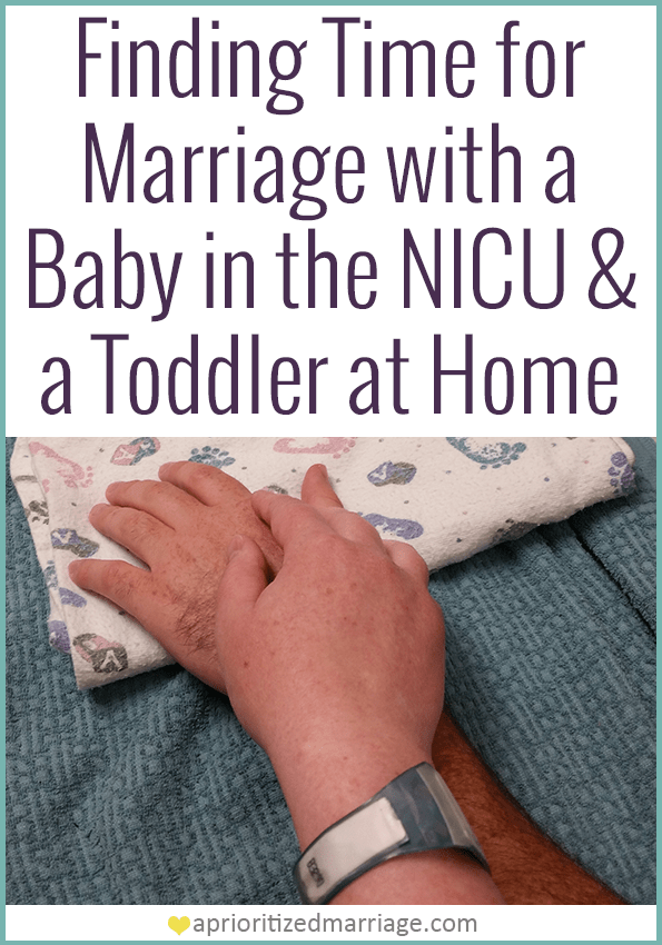 How we're balancing life in the hospital with life at home while still making time for our marriage.