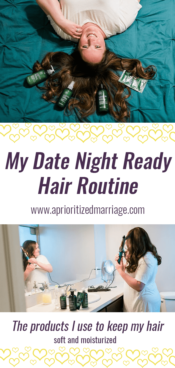 my favorite hair products for soft and moisturized hair. Perfect for date night!