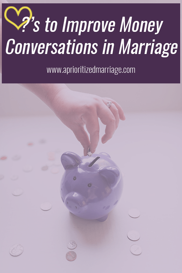 Five conversations you can have to improve the financial discussions in your marriage
