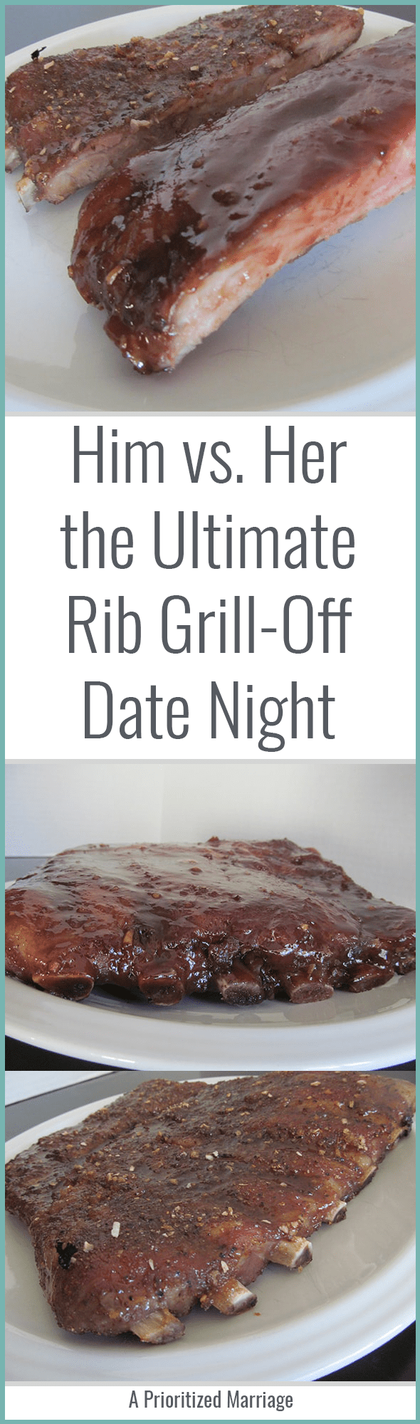 Bring your competitive side for this fun rib grill-off date night