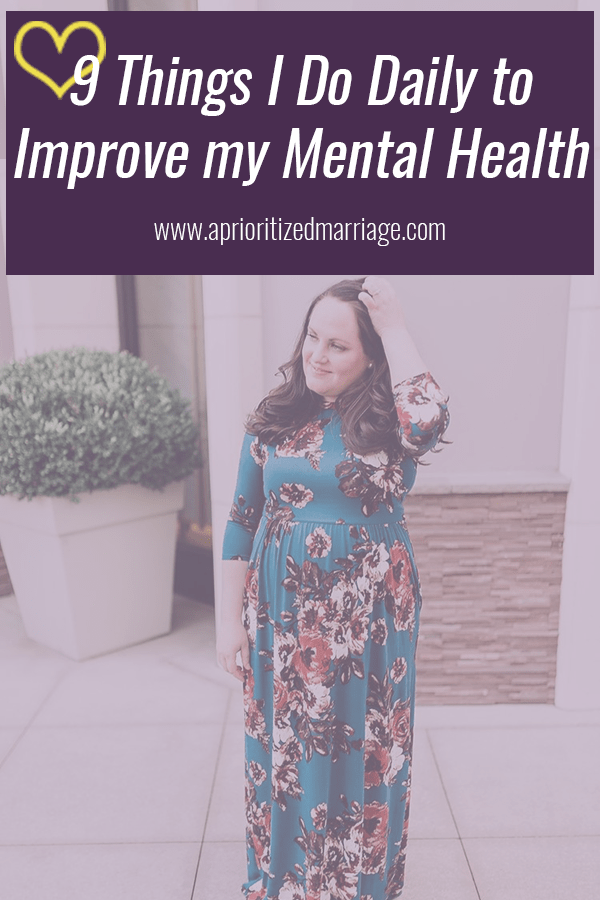 Focusing on my mental health has made me a better version of myself, a better wife, mom and every other role in my life.