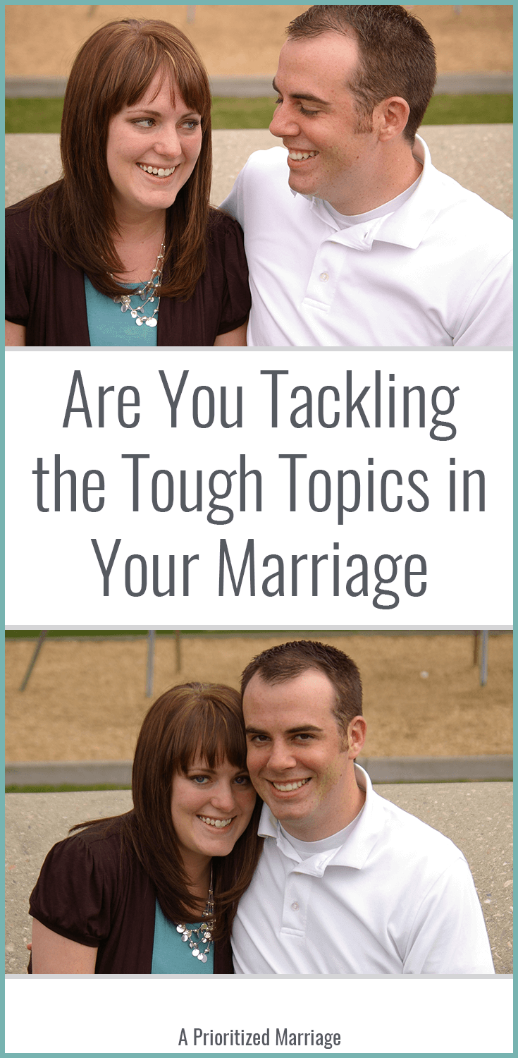 Don't skip the tough topics of conversation in your marriage