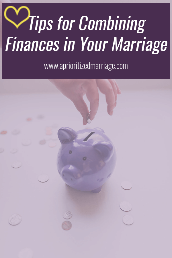 How to combine bank accounts in your marriage.