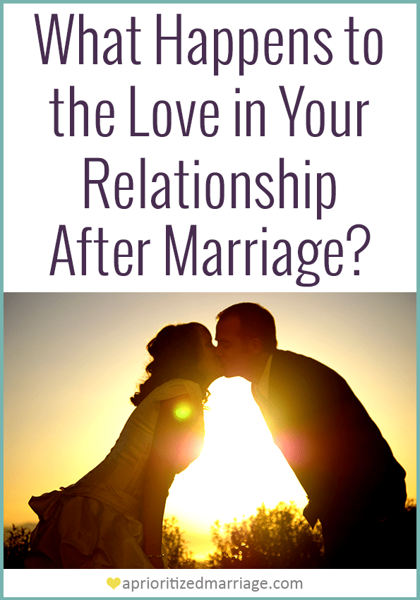 Does it feel like the love in your relationship disappeared after marriage? Where did that love go and how do you get it back?