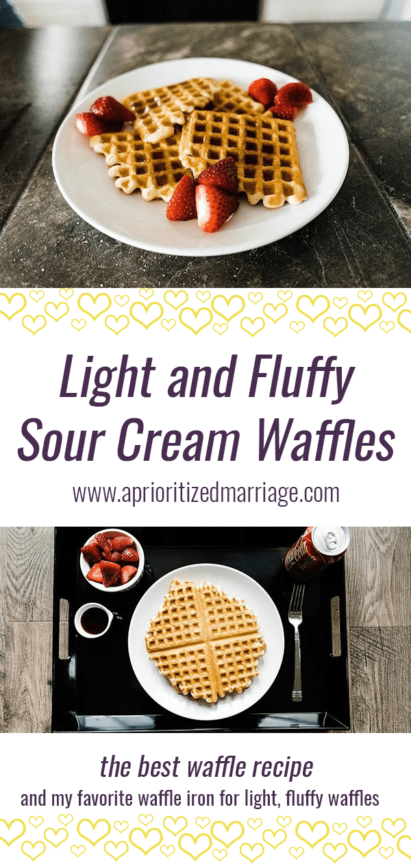 light and fluffy sour cream waffles