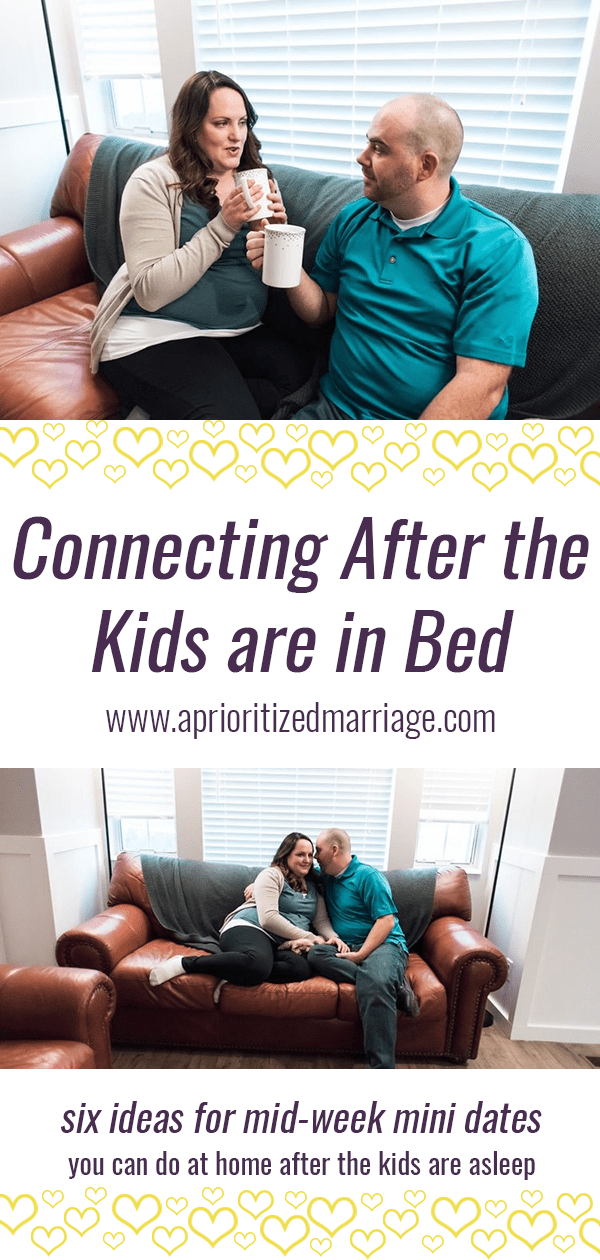 Ideas for midweek date night activities at home after the kids are in bed.
