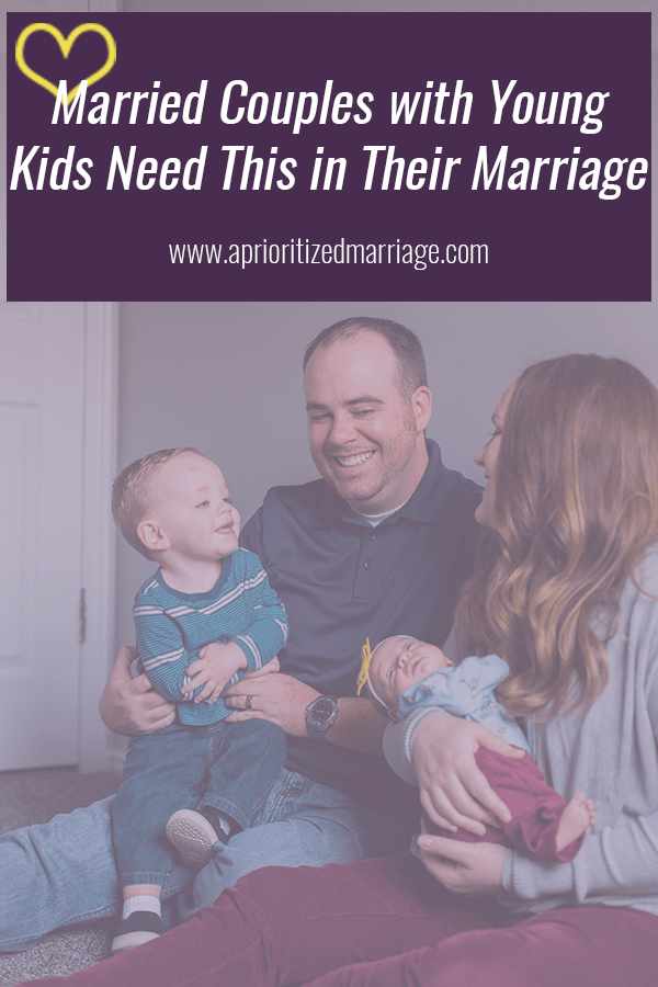 Every married couple should make this a priority but especially couples with young children.