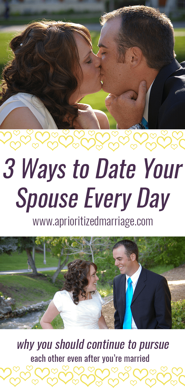 Three things you can do now to continue dating each other after you get married.