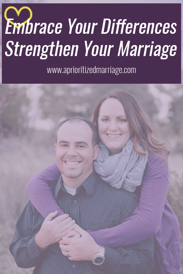 You don't have to just accept the differences in your marriage, you can embrace them!