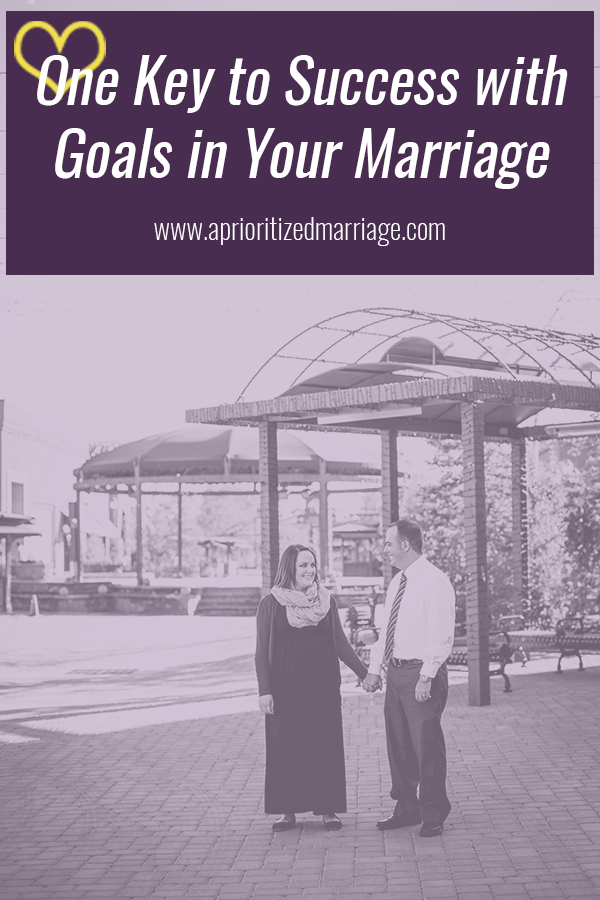 This one tip will help you find success with the goals that you set as a couple in your marriage.