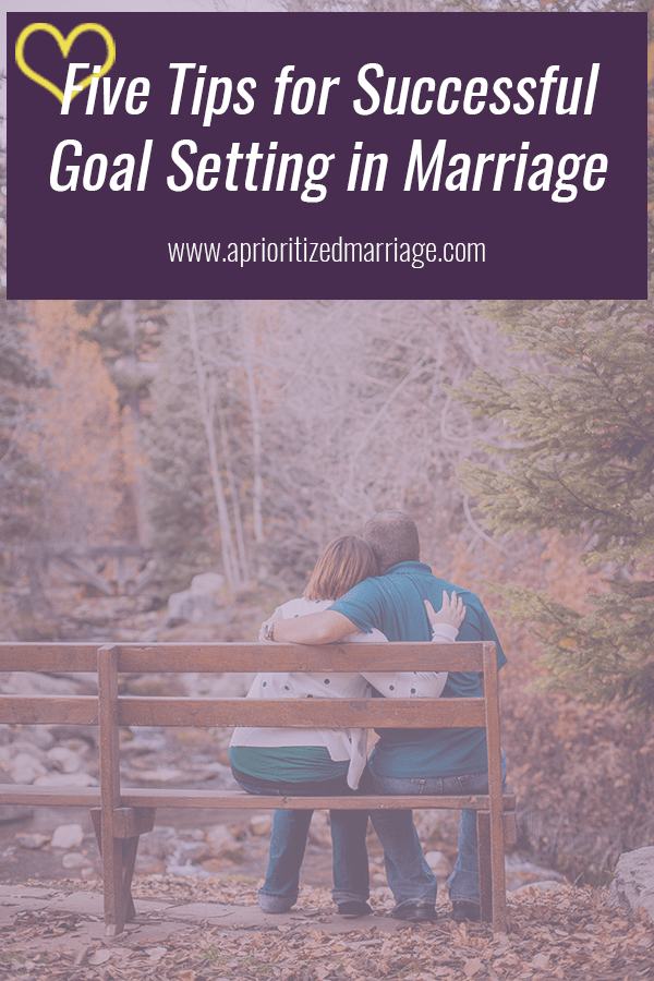 Whether you are setting goals for your own personal growth, goals to strengthen your marriage, or goals as a couple to help you get further ahead in life, you can work together as a team to accomplish them.