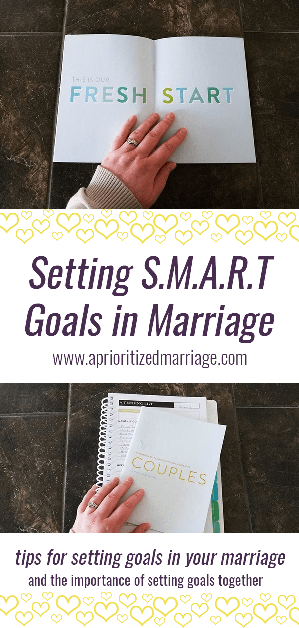 Set goals with your spouse, your marriage will thank you. Here is a quick formula to help you set more successful goals.