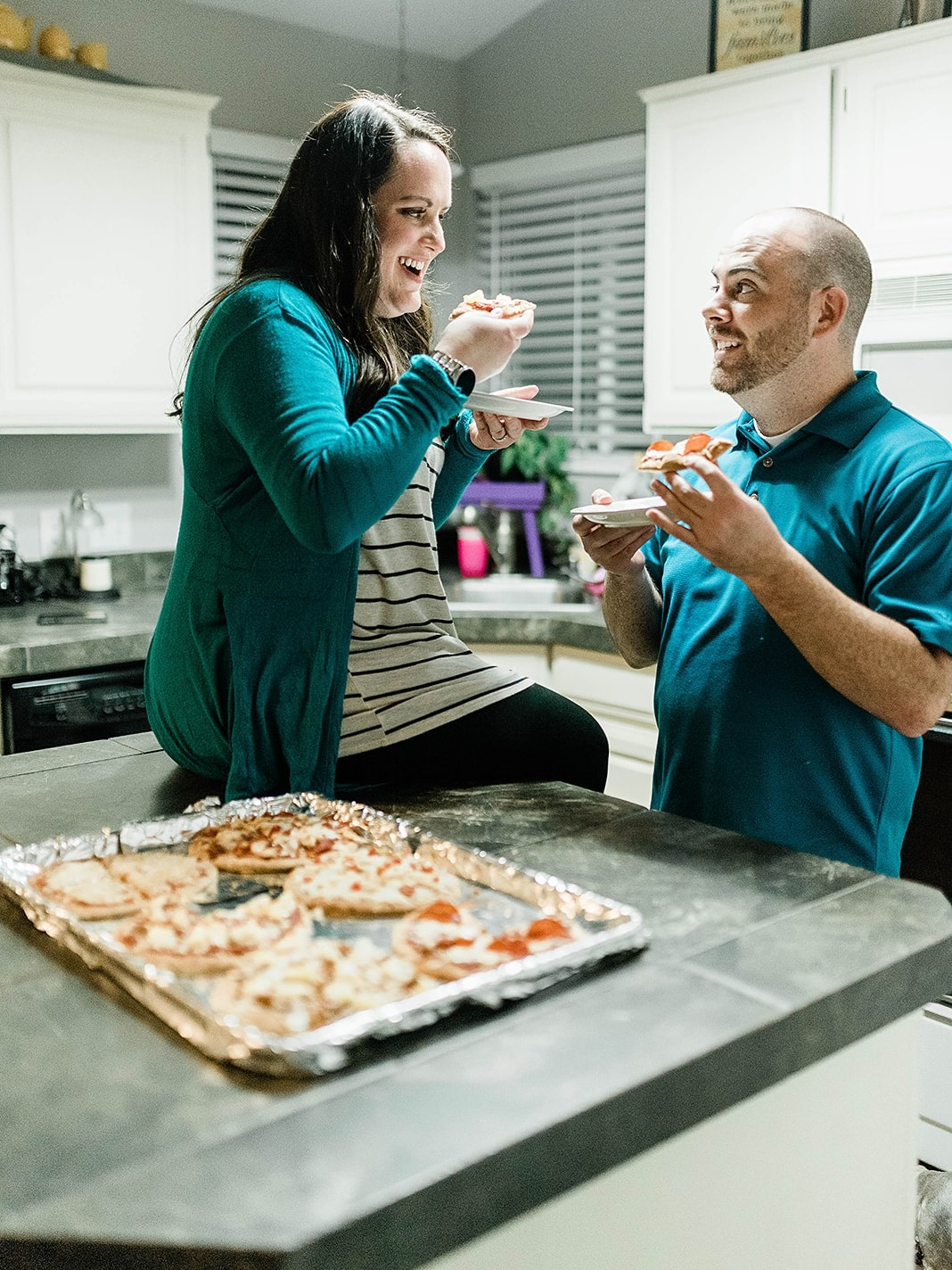 build your own pizza - date night at home