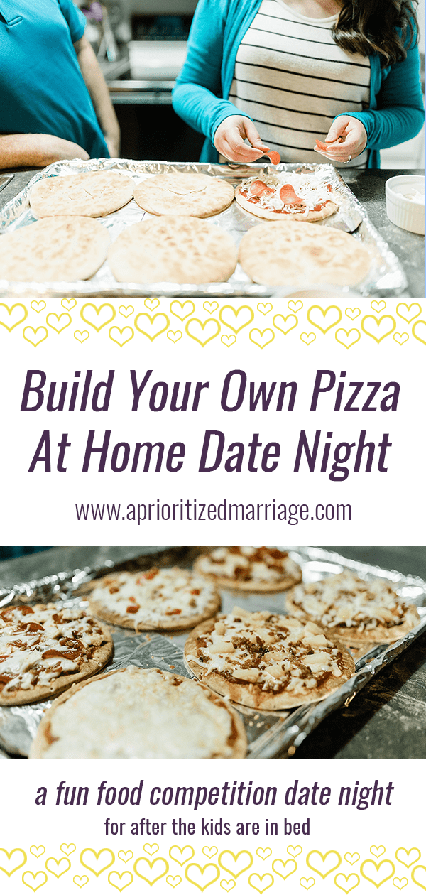 Build your own pizza competition for a date night at home