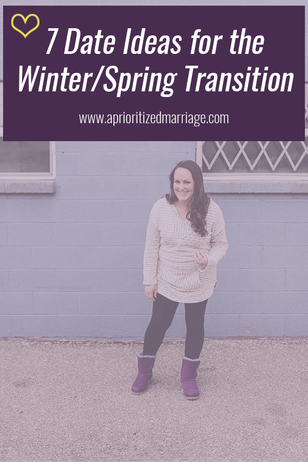 Date night ideas for the winter to spring transition time. Plus this cute top from #shopmscb is perfect for wearing on those dates as the weather warms up but is still a bit cold.
