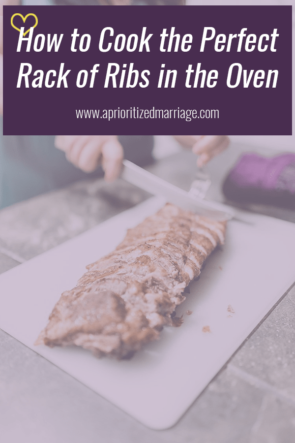 How to cook the perfect rack of ribs in the oven.