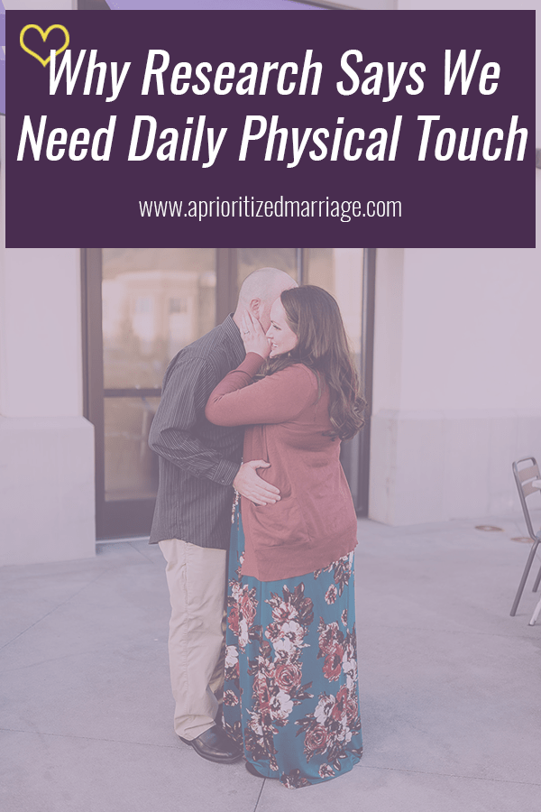 Research backs up this advice that you and your spouse should be touching often.