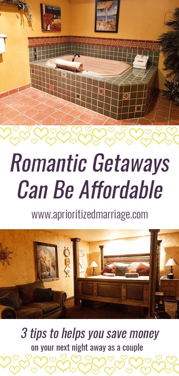 A romantic getaway doesn't have to be expensive. Tips for helping you save money on an overnight date.
