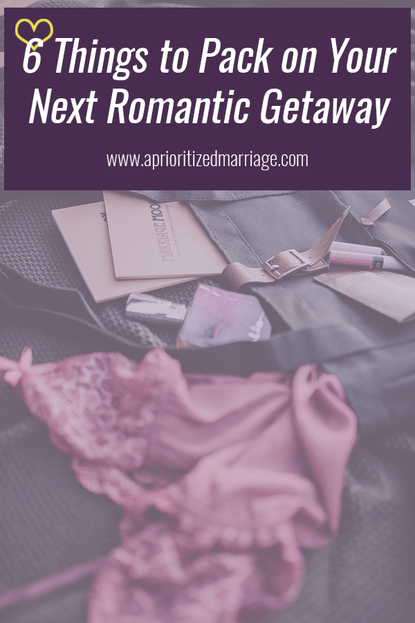 Packing list for your next romantic getaway.