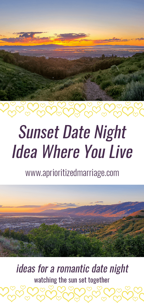 Plan a date to watch the sun set.