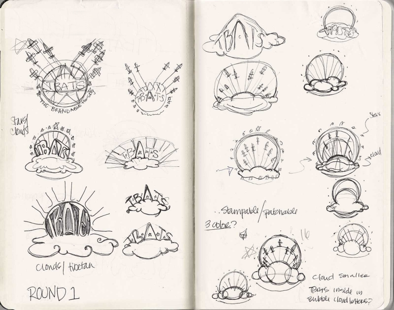 Behind the scenes concept sketches