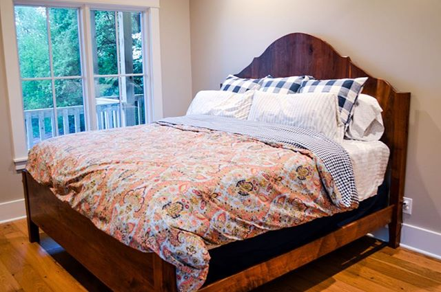 As the weather gets colder, getting out of bed seems to be more difficult. Especially when your bed is made of beautiful walnut