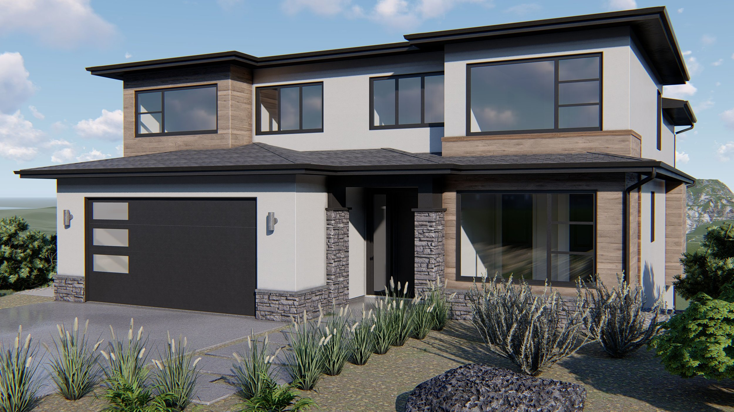Rendering of a home plan available at University Heights in Kelowna
