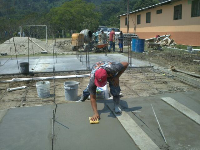 Pouring the slabs