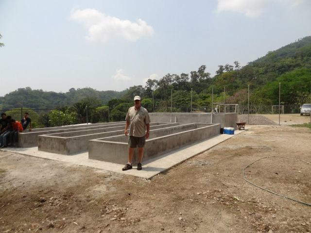 The concrete system is complete and ready for the finishing touches.