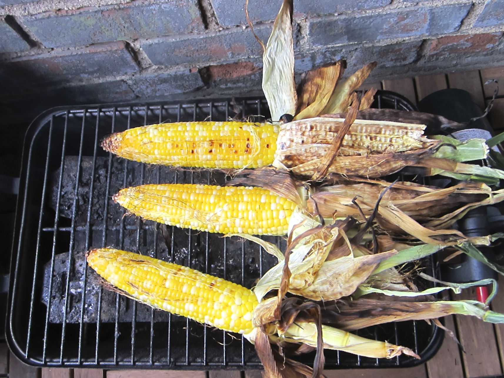 Barbequed corn