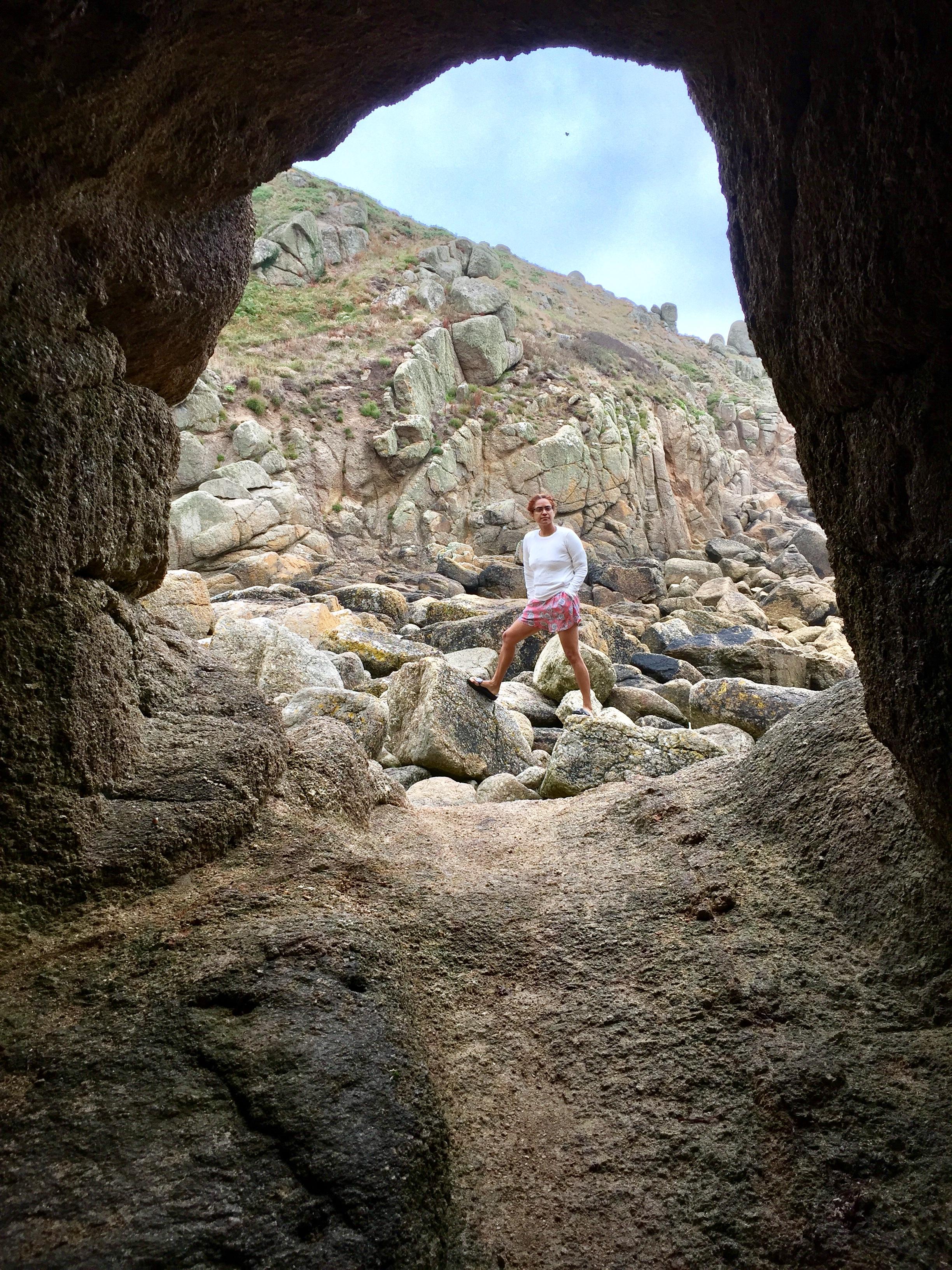 The craggy shoreline of Cornwall