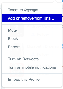 Add competitors to a private Twitter list and they'll never know