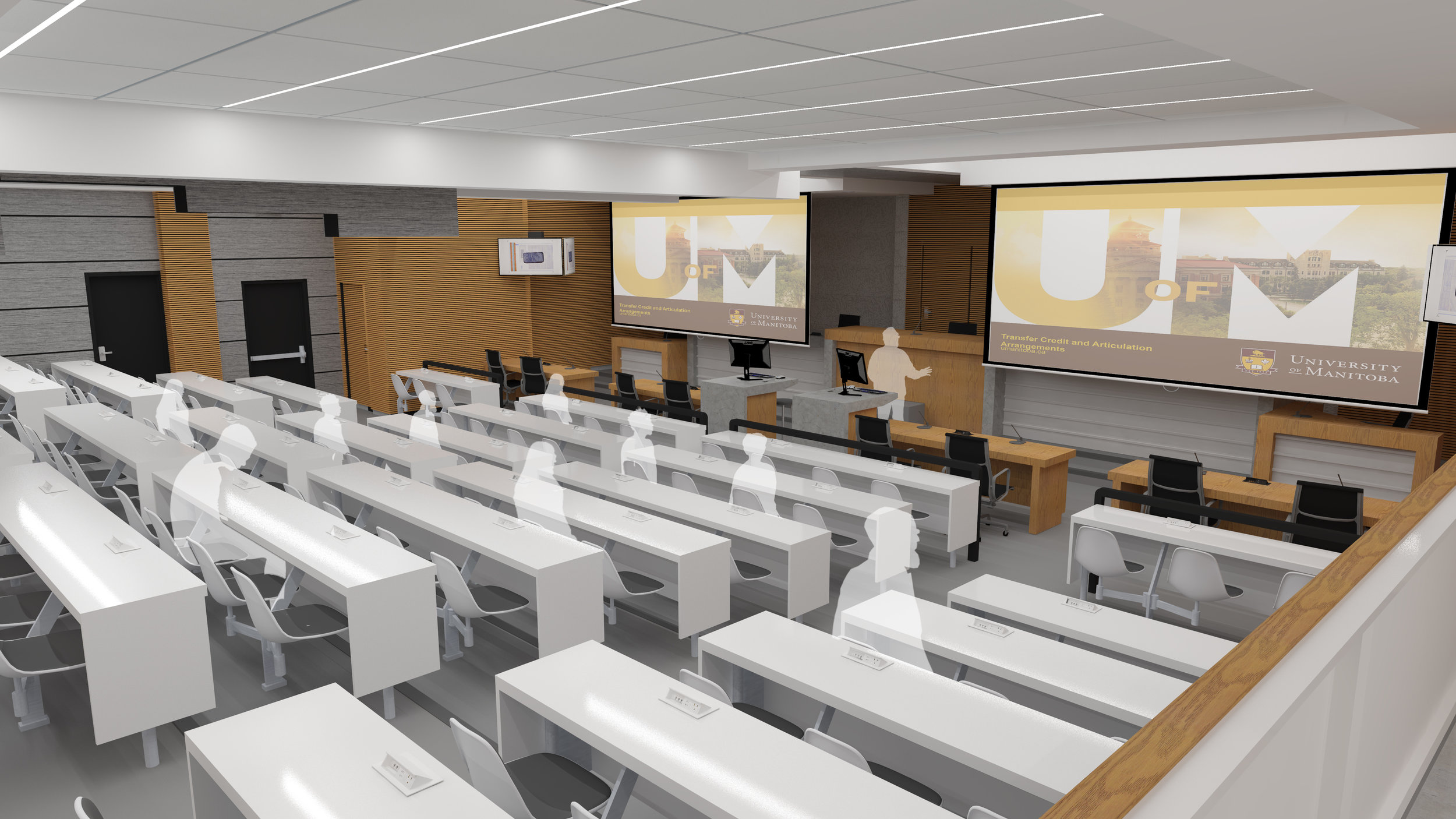 University of Manitoba - Various projects completed for the University of Manitoba including fire damage restoration, entrance accessibility, and classroom and laboratory upgrades.