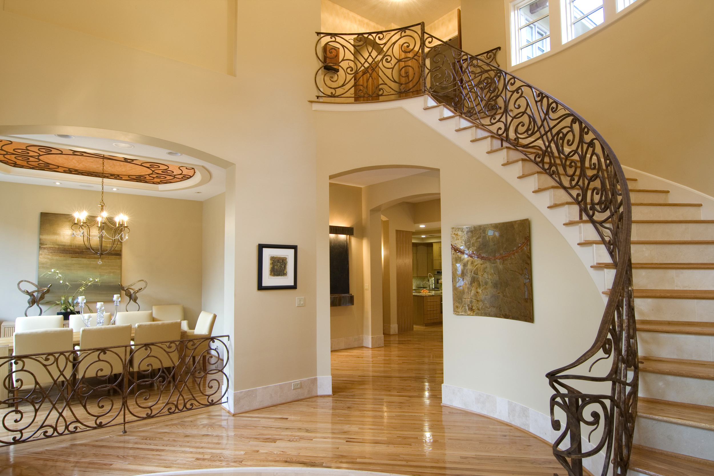 Meadow Lake  Lane - Entry looking towards Gallery, Dining Room and Staircase.jpg