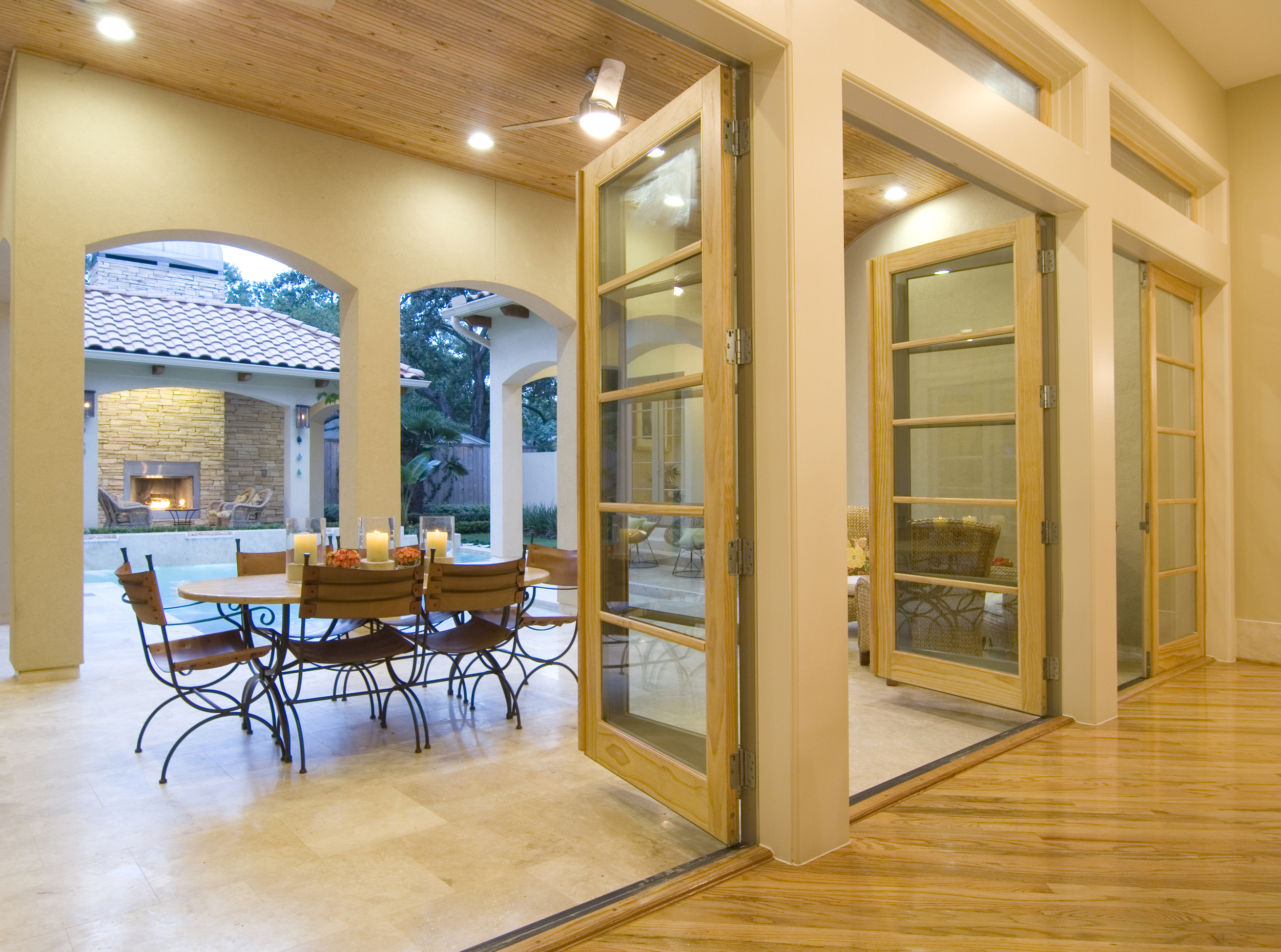 Meadow Lake Lane - Doors Opening from Gallery onto Patio:Veranda2.jpg