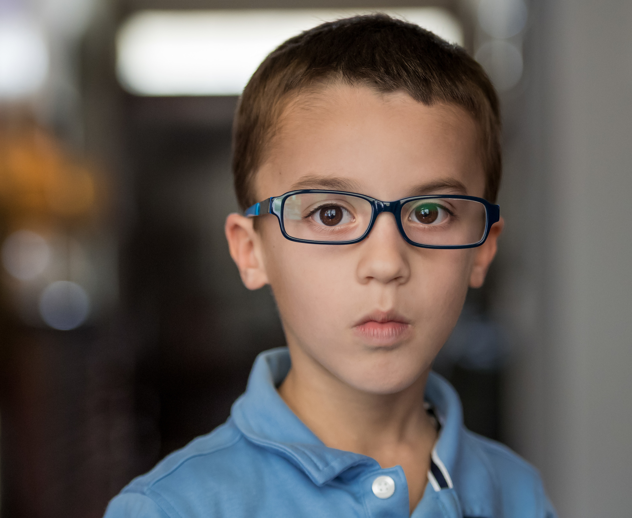 He got glasses!