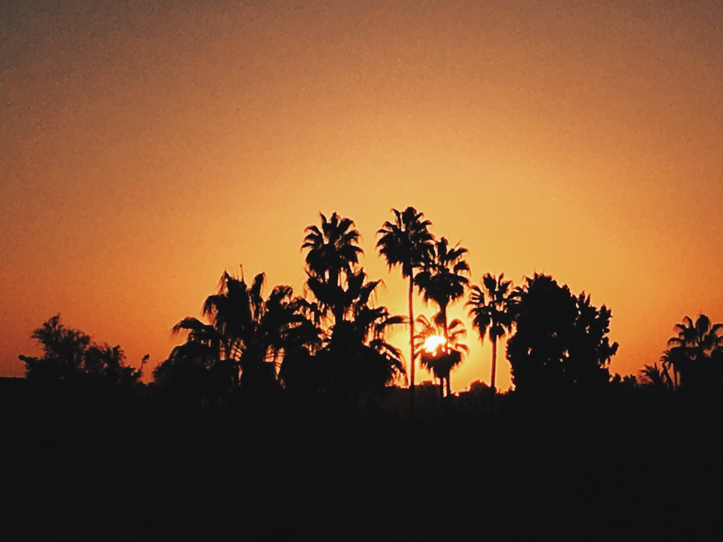 Sun set over Marrakech