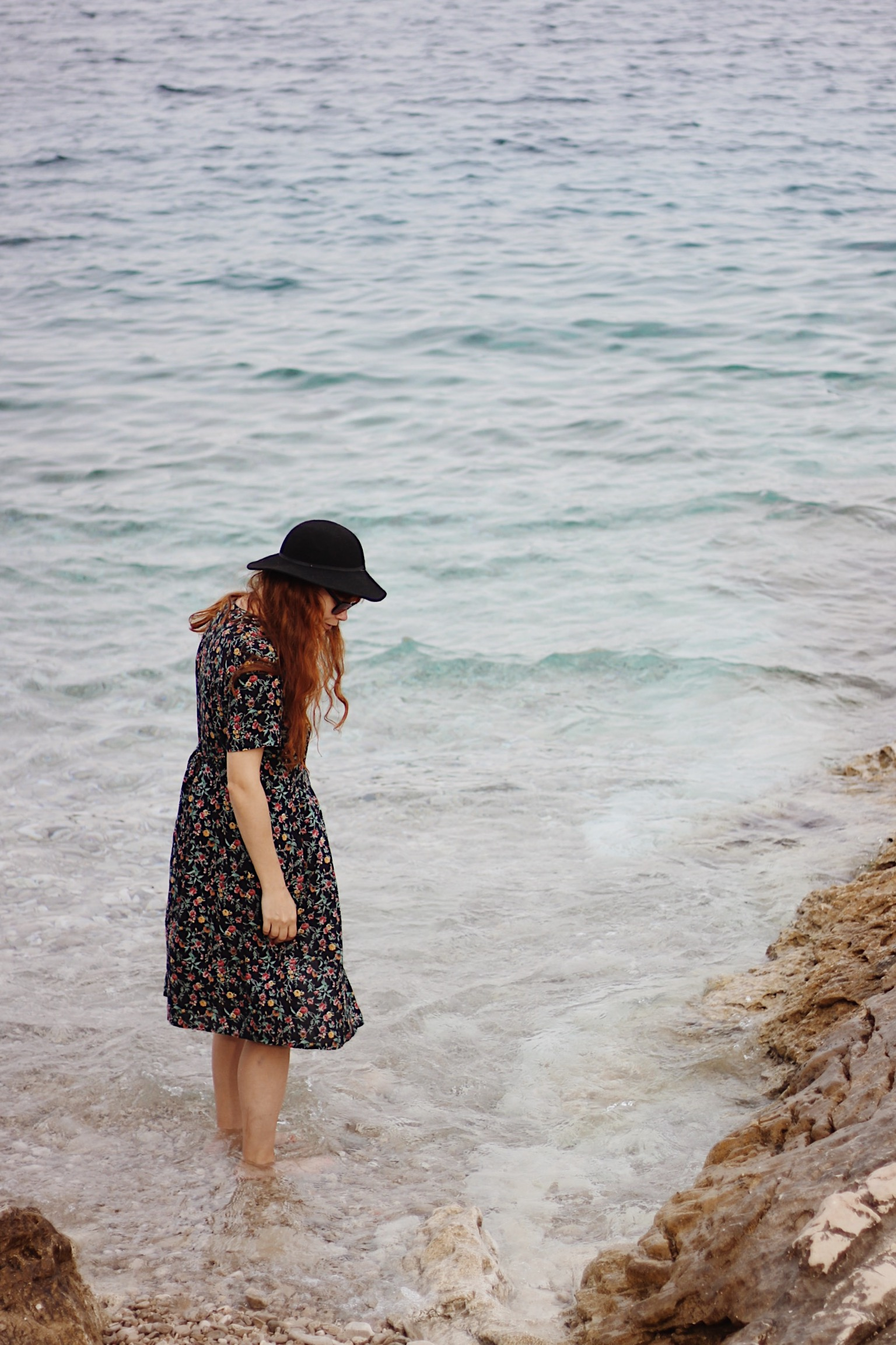 Mljet, Croatia, Girl on beach
