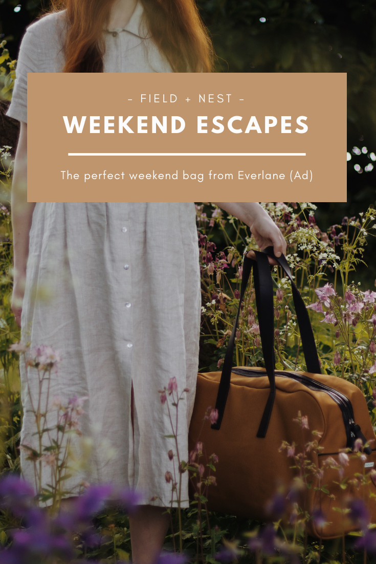 Weekend Escapes | Everlane Weekend Bag | Wild Flowers in Spring | Field + Nest