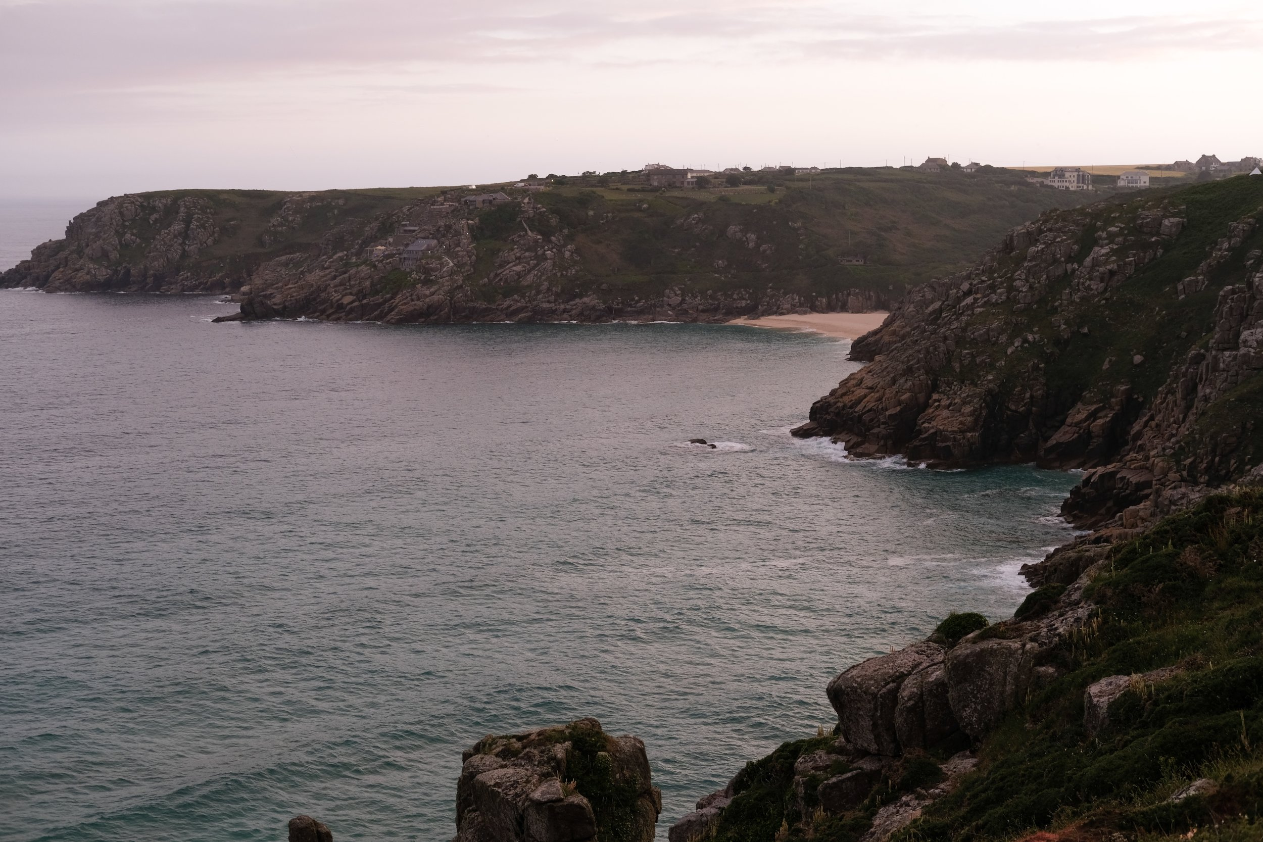 Porthcurno, Cornwall at sunset | Slow Travel | Field + Nest