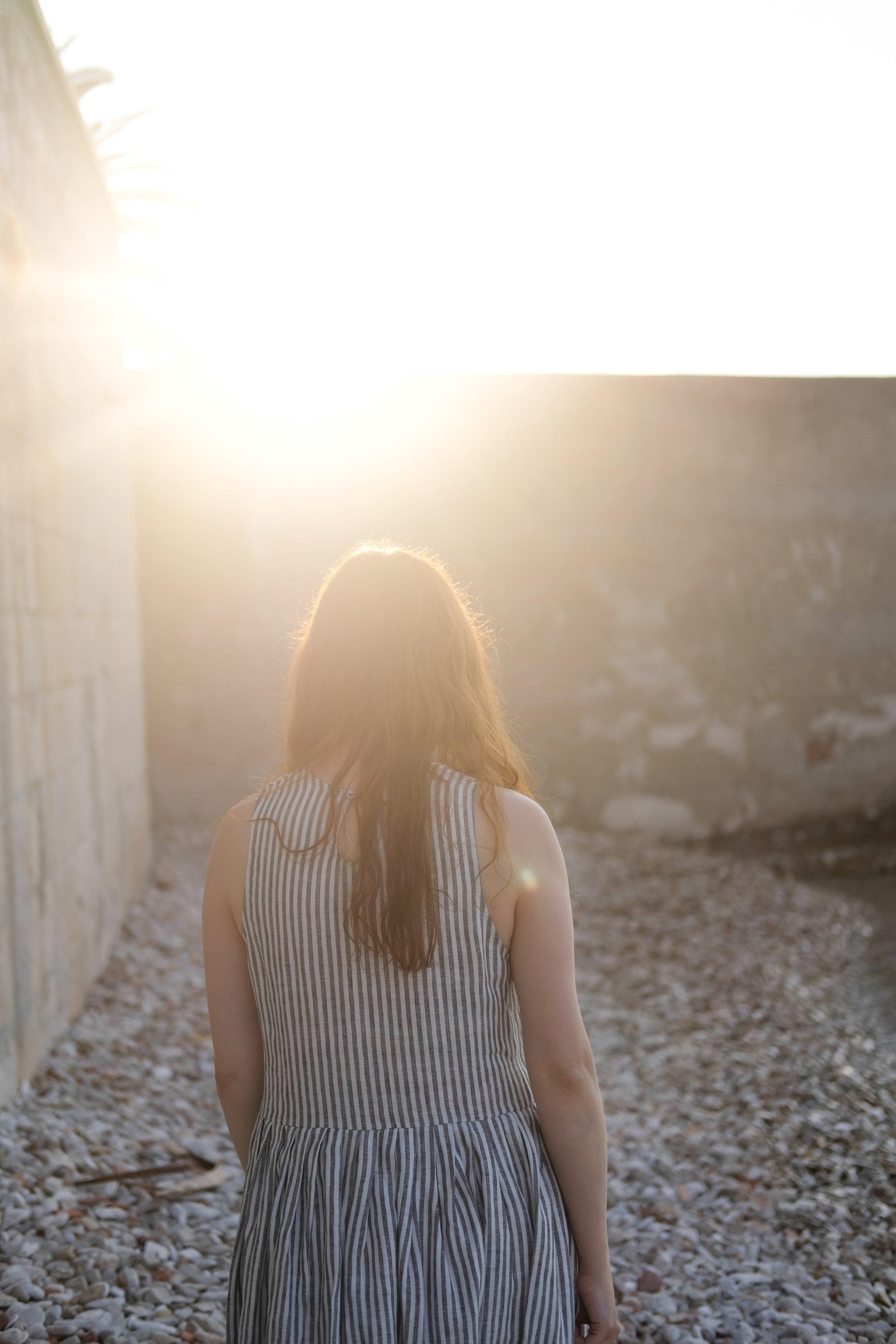 My Slowest Ever Trip: Vis, Croatia | girl wearing striped summer dress | Field + Nest